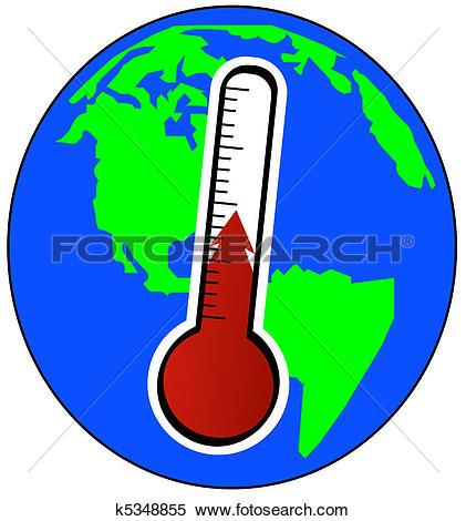 Stock Illustration of Global warming k2339726.