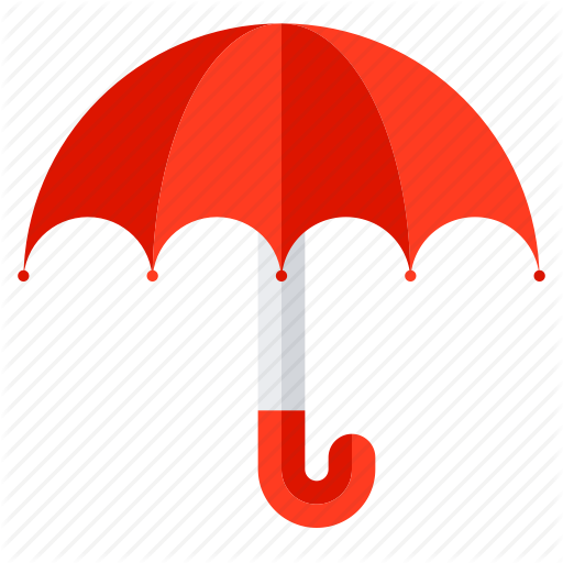 Climate, protection, security, umbrella, weather icon.