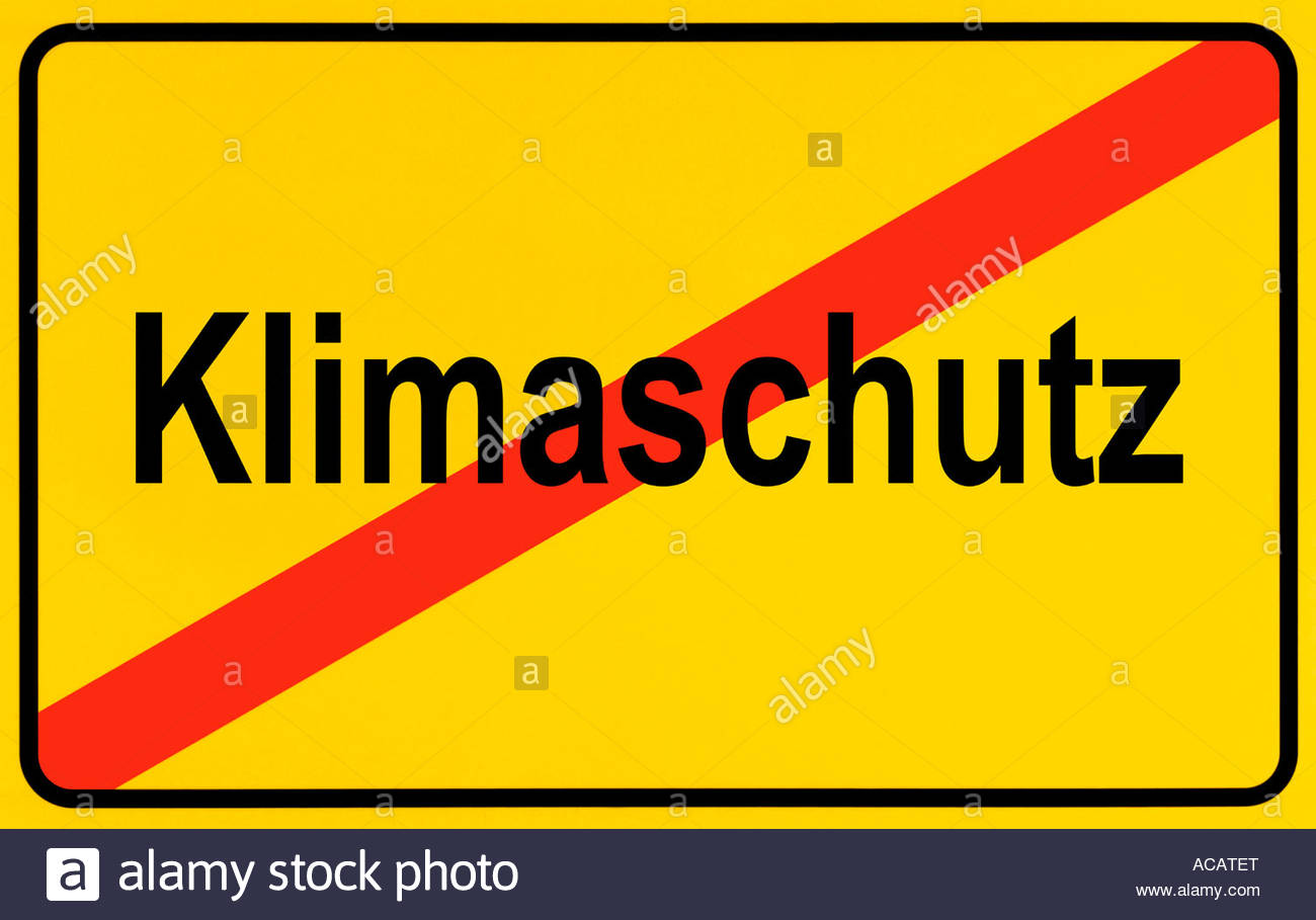 German City Limits Sign Symbolising End Of Climate Protection.