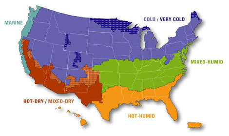 Climate Zone Map.