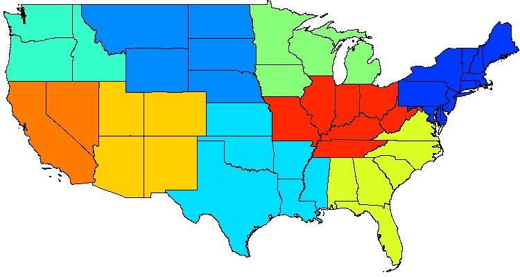 Zone Map Of The United States.