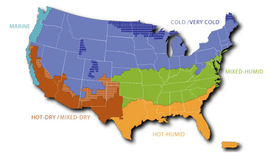 Climate Zone Map Of The United States.