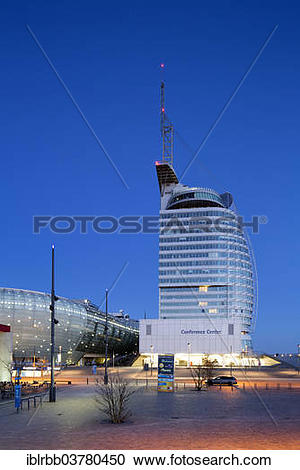 "Stock Photography of ""Atlantic Hotel Sail City, Climate House."