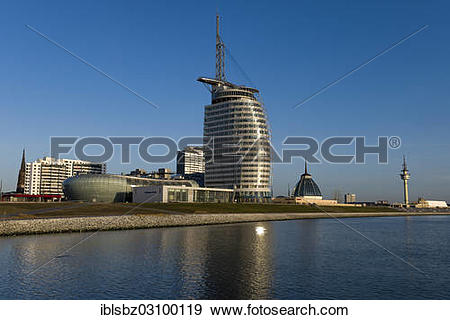 """Stock Photograph of """"Klimahaus, Climate House, conference centre."""