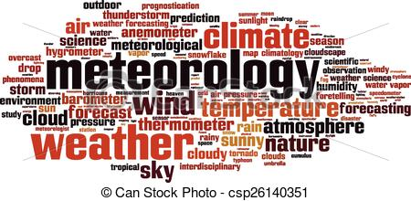 Clipart Vector of Meteorology word cloud concept. Vector.