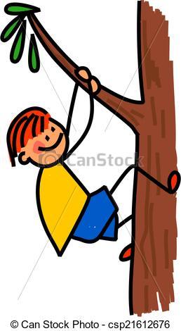 Clipart climb a tree.