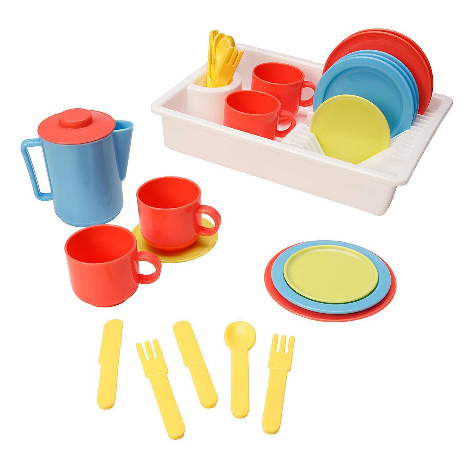 Amazon.com: Playkidz: Super Durable 31 Piece Kids Play Dishes.