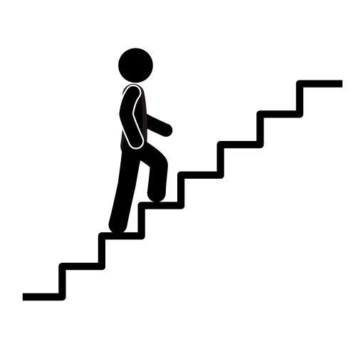 Climbing Steps Clipart.