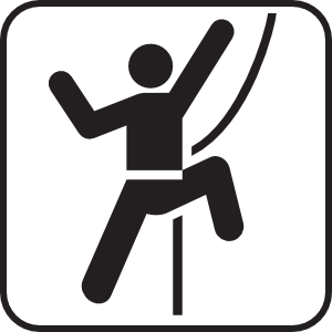 Technical Rock Climbing White Clip Art at Clker.com.