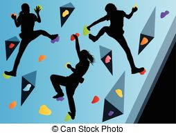 Rock climbing clip art.