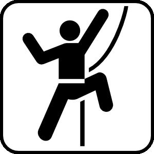 Mountain Climbing Clip Art.