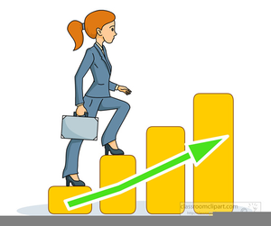 Climbing The Corporate Ladder Clipart.