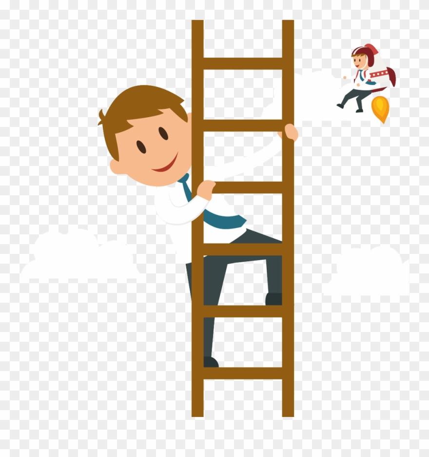 Svg Climbing A Ladder Clipart.