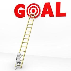 Man Climbing A Ladder Clipart.