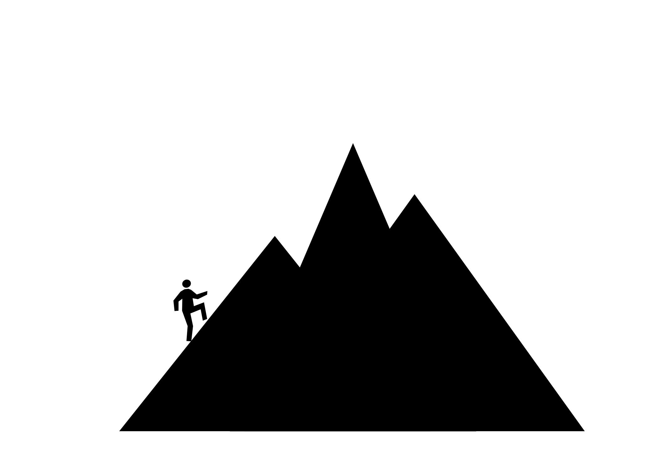 Person Climbing Mountain Clipart.