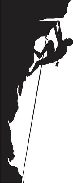 Rock climbing silhouette illustration duvets.