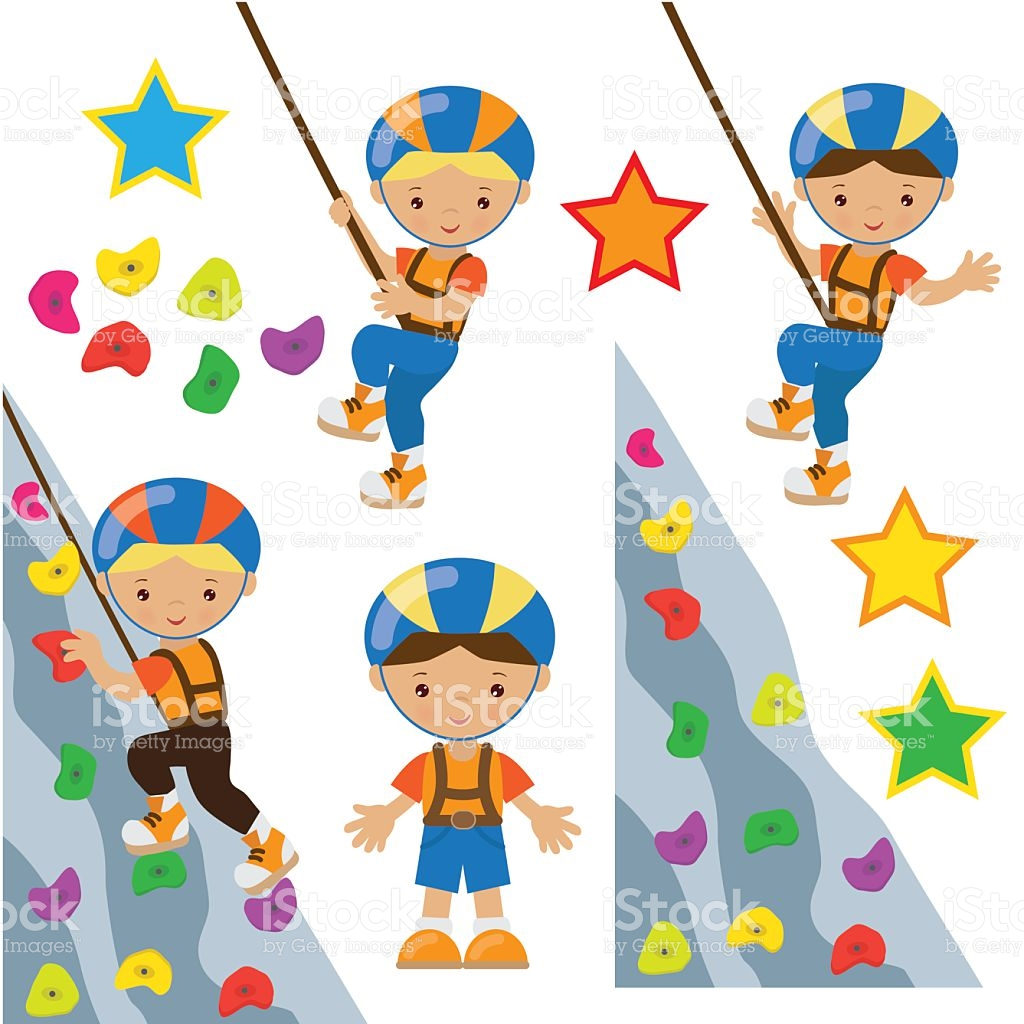 Rock Climbing Wall Clip Art, Vector Images & Illustrations.