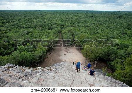 Picture of MEXICO, YUCATAN PENINSULA, NEAR CANCUN, MAYA RUINS OF.