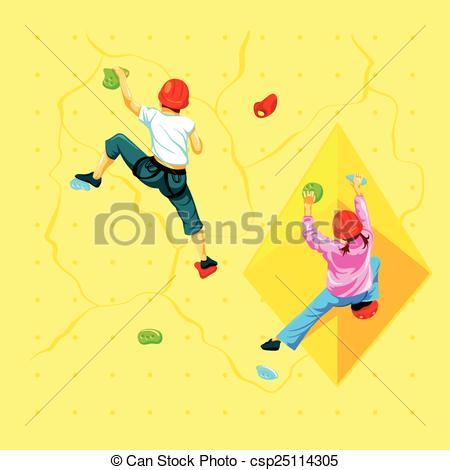 Wall climbing Vector Clipart Illustrations. 578 Wall climbing clip.