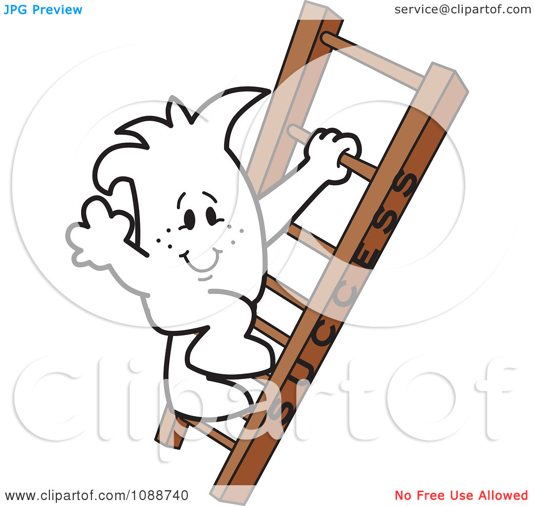 Free climbing success with flag clipart.