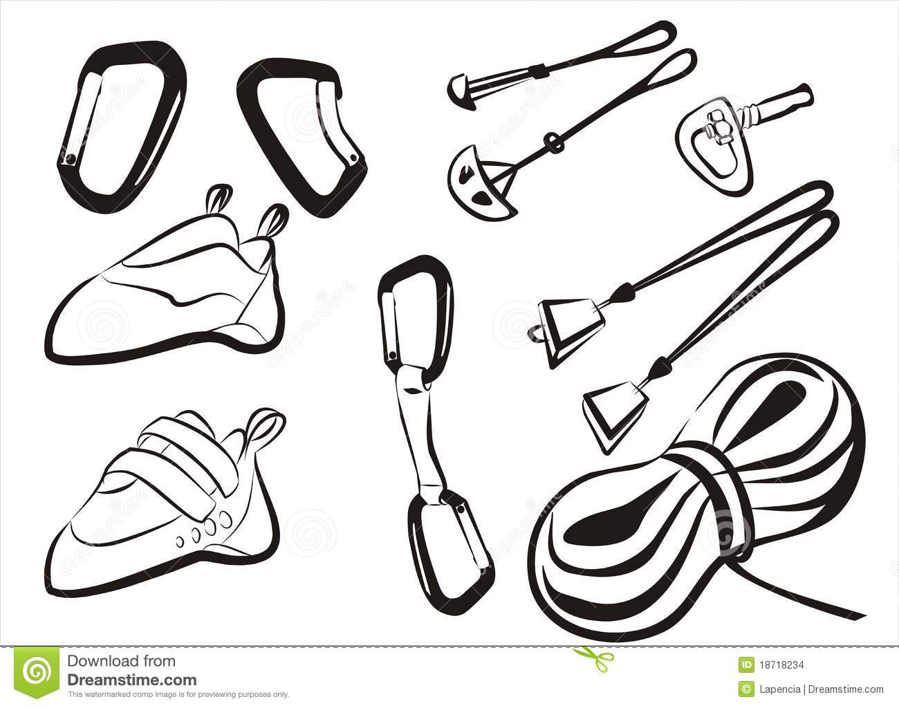 Climbing Equipment Goods And Stuff Stock Images.