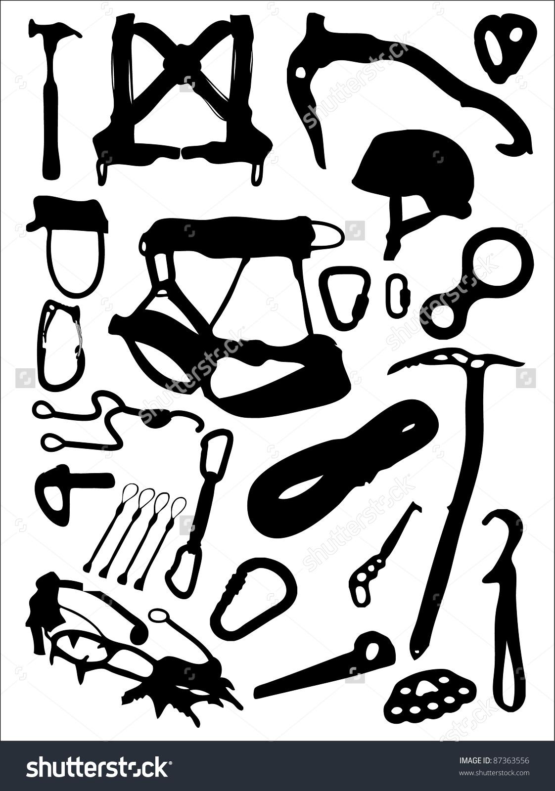 Climbing Equipment Stock Illustration 87363556.