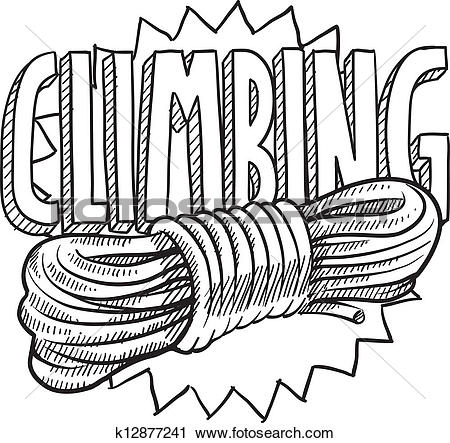 Clipart of Mountain climbing equipment vector k10373952.