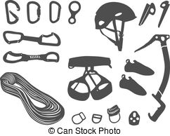 Rock Climbing Gear Clipart.