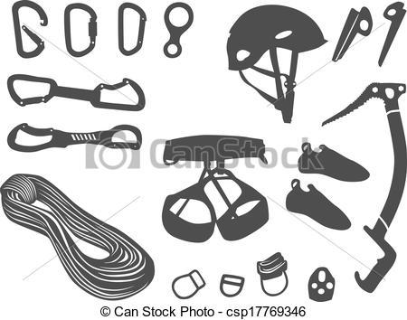 Rock-climbing equipment clipart #5