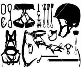 Rock-climbing equipment clipart #14