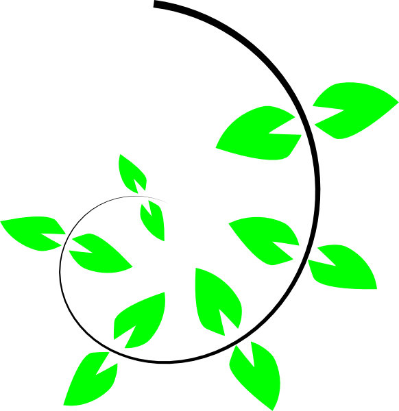 Creeping plants clipart #8