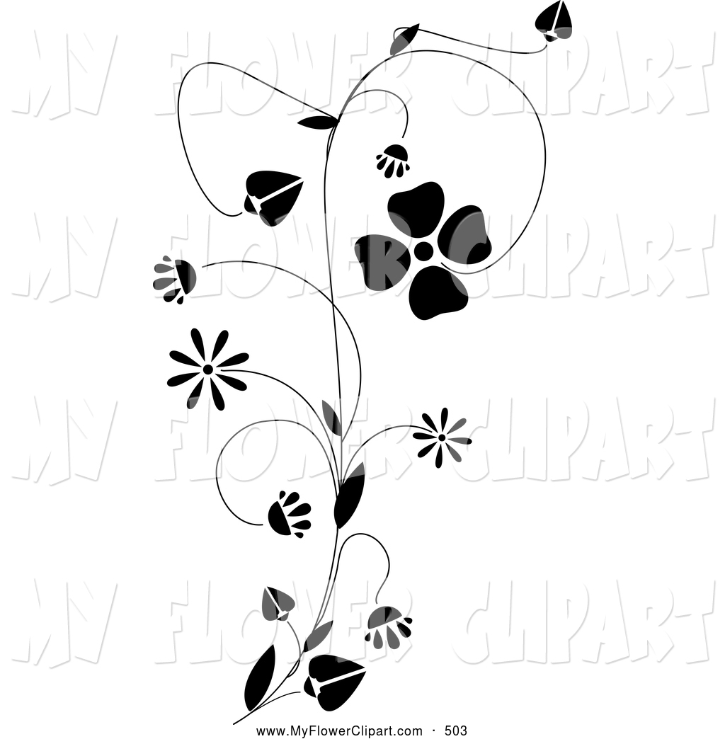 Royalty Free Stock Flower Designs of Design Elements.