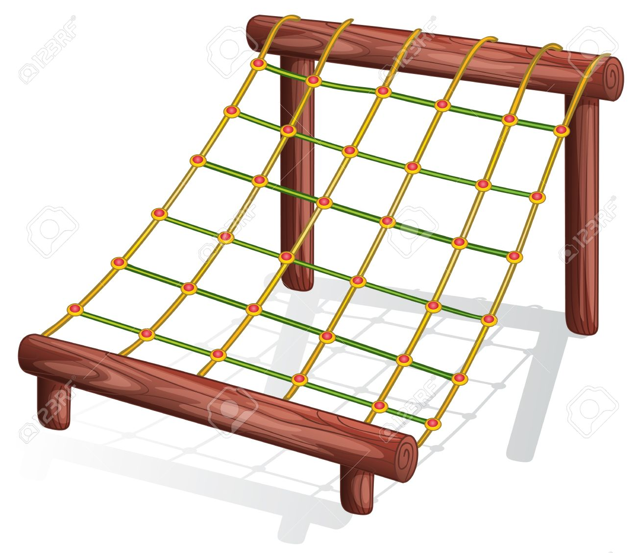 Illustration Of A Rope Course Royalty Free Cliparts, Vectors, And.