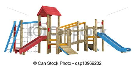 Climbing Play Structure Clipart.