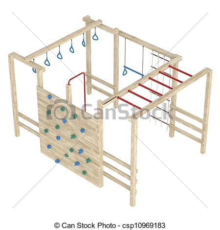 Stock Illustration of Jungle gym or climbing frame.