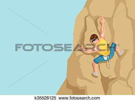 Clipart of Rock Climbing k35528125.