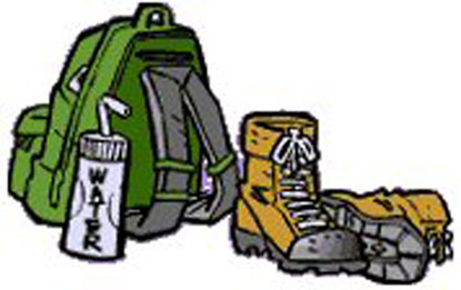 Mountain Climbing Gear Clip Art.