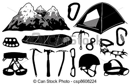 Clip Art Rock Climbing Gear.