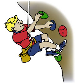 Rock Climbing Wall Clip Art.