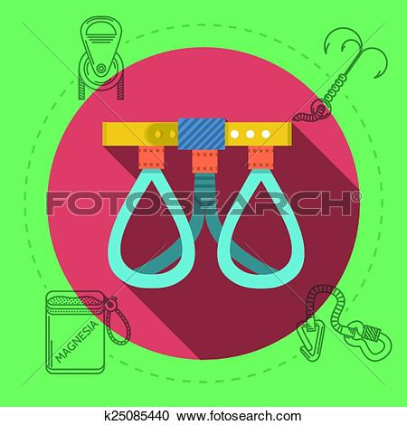 Clipart of Flat design vector illustration for rock climbing.