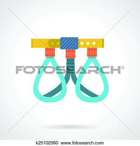 Clipart of Climbing harness colored vector ico k25102560.