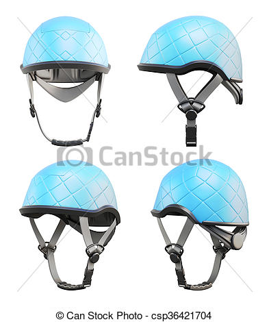 Stock Illustration of Different type of climbing helmet isolated.