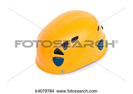 Stock Photo of orange climbing helmet k4079784.