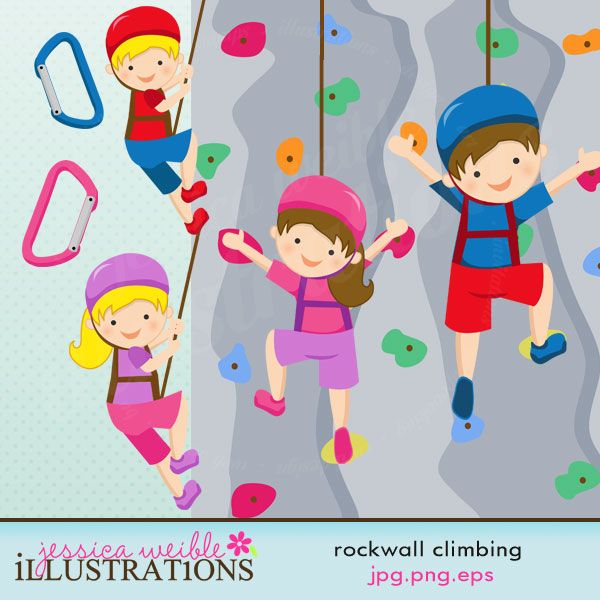Climbing Wall Holds Clip Art.