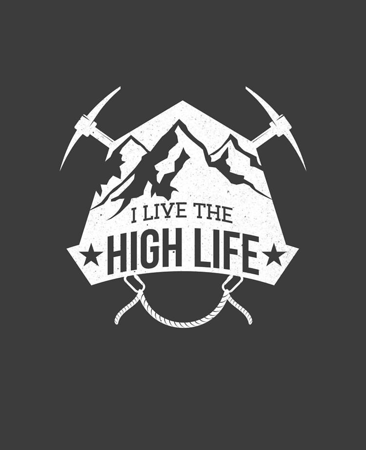 Mountain Climbing Logo T Shirt.