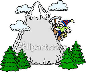Mountain Climber Clipart.