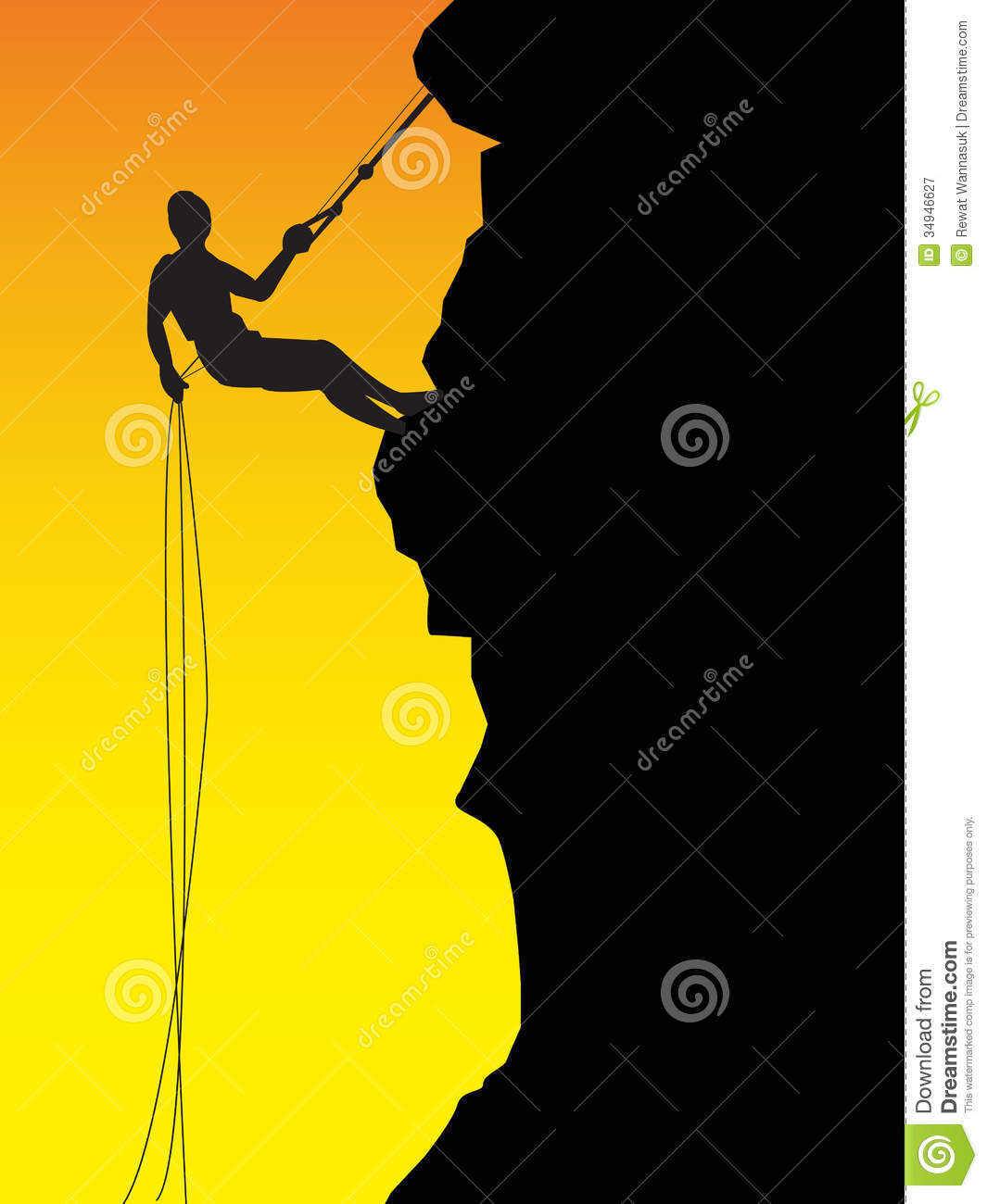 Free clipart man climbing mountain.
