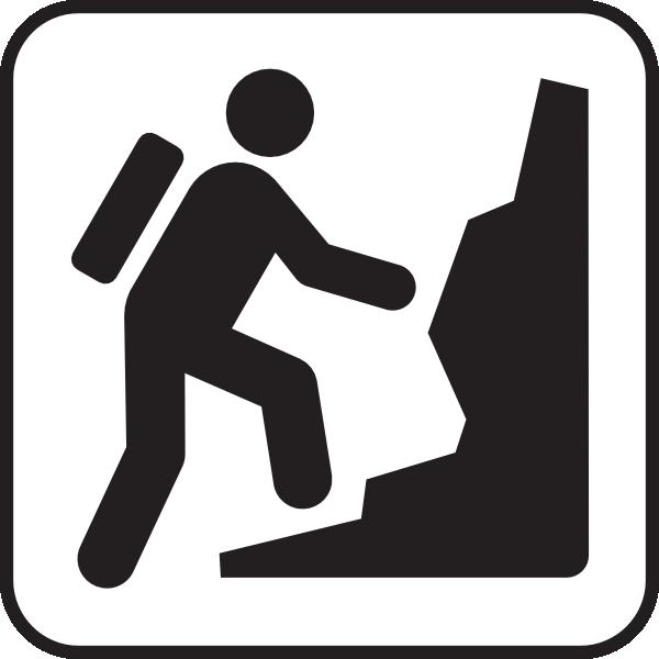 Climbing A Hill Clipart.
