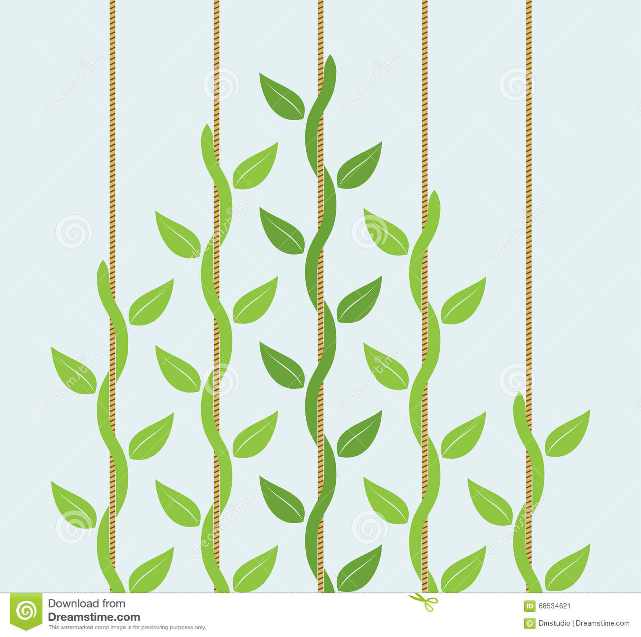 Climbing Plant Abstract Stock Illustrations.