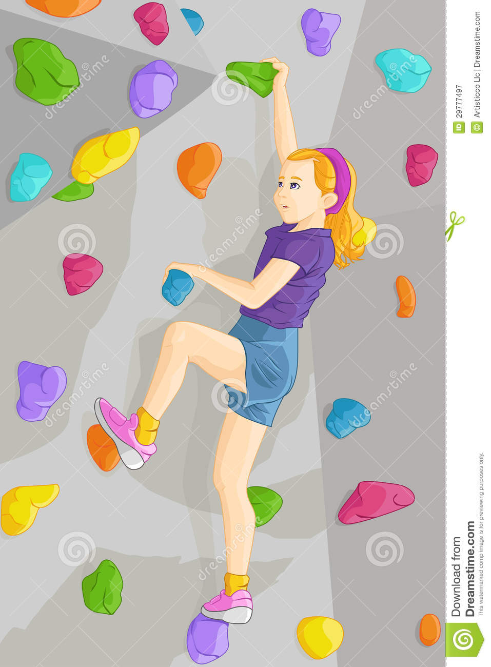 Indoor Rock Climber Royalty Free Stock Photography.